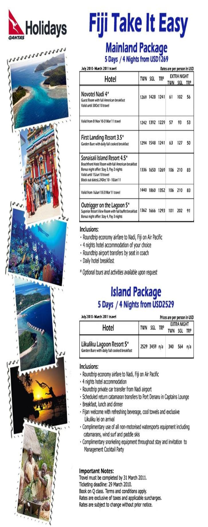 Vacation Tour Packages